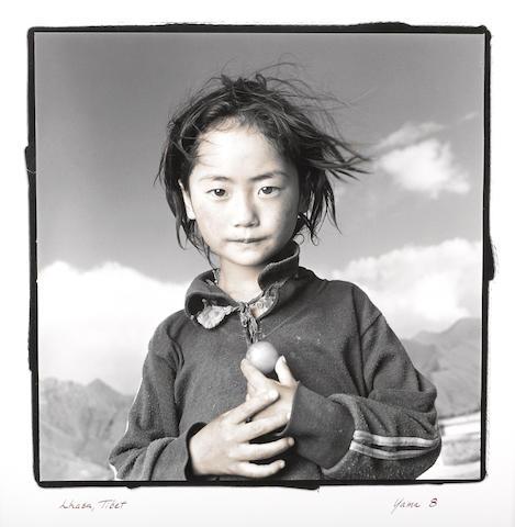 Phil Borges (born 1950); Yama, 8, Lhasa. Tibet;