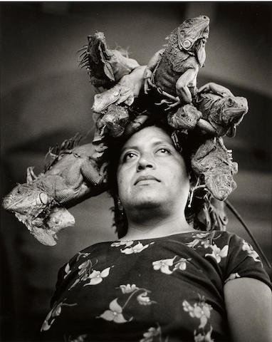 Graciela Iturbide (Mexican, born 1942); Nuestra senora de las iguanas, Juchitan, Oaxaca, ;