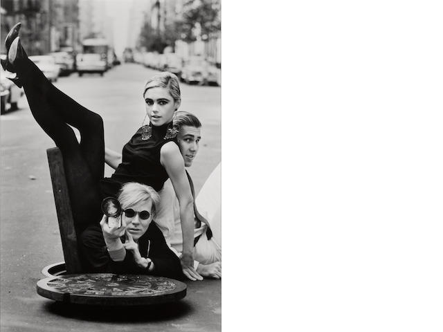 Burt Glinn (American, 1925-2008); Andy Warhol, Edie Sedgwick, and Chuck Wein, New York City;