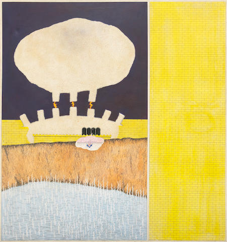 Barry Le Va (American, born 1941) Power Plant, 1966 72 x 67 1/2in (182.9 x 171.5cm) unframed