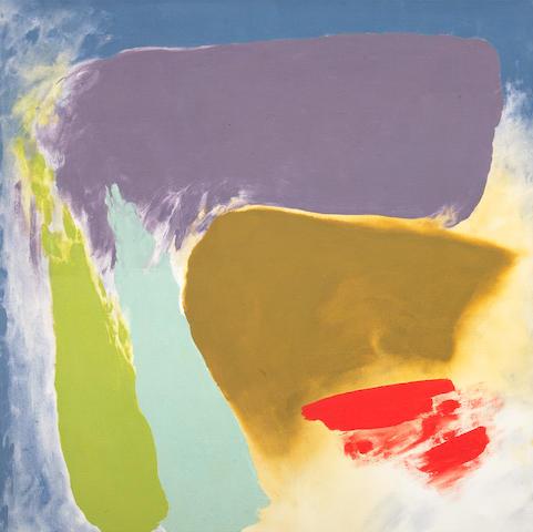 Friedel Dzubas (German/American, 1915-1994) San Bivar Signal, 1979 40 x 40in (101.6 x 101.6cm)