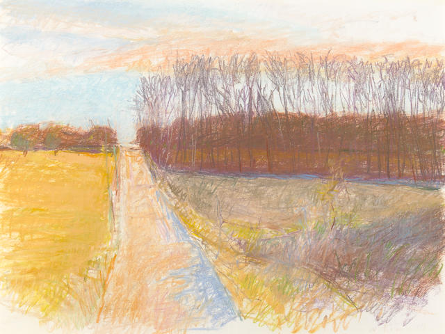 Wolf Kahn (American, born 1927) Country Road, 1988 22 1/2 x 30 1/4 (57.2 x 76.8cm)