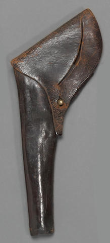 A Civil War era black leather military holster