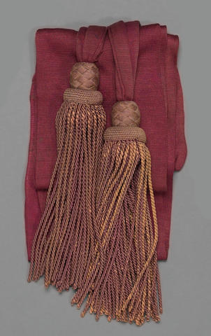 A Civil War era officer's sash