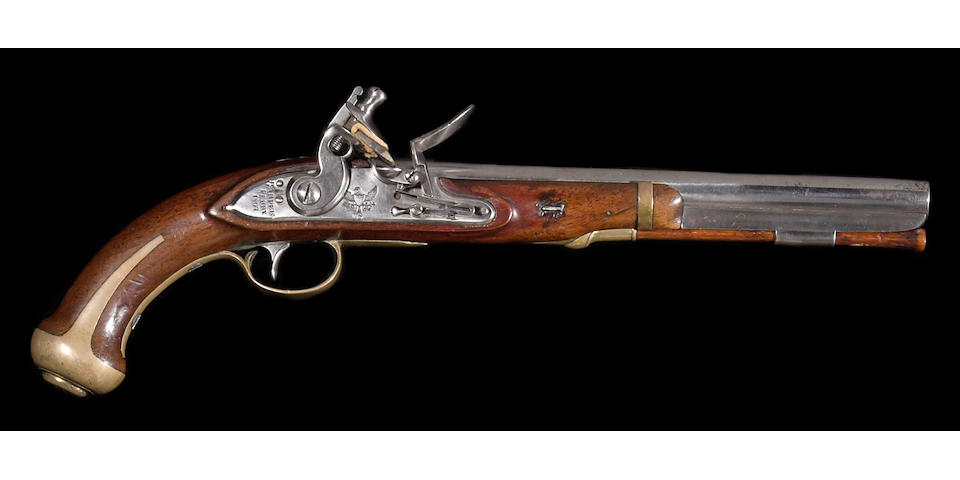 A U.S. Model 1805 Harpers Ferry flintlock martial pistol