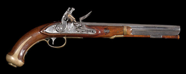A U.S. Model 1805 Harpers Ferry flintlock martial pistol