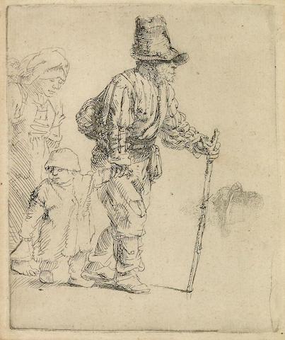 Rembrandt Harmensz van Rijn (Dutch, 1606-1669); Peasant Family on the Tramp;