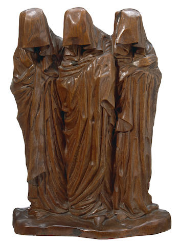 George Minne (Belgian, 1866-1941) Les saints femmes au tombeau (Three holy women at the tomb) 24 5/8 x 17 1/8 x 8 7/8in (62.5 x 43.5 x 22.5cm)