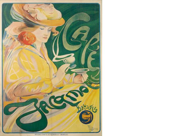 Fernand Toussaint (Belgian, 1873-1955); Café Jacqmotte;