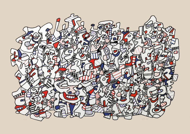 Jean Dubuffet (French, 1901-1985); Site Populeux;