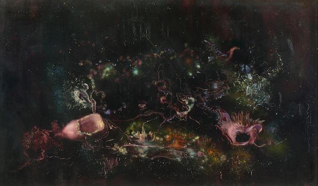 Enrico Donati (American, 1909-2008) Le crepuscole et la cite 44 x 26in