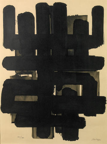 Pierre Soulages (French, born 1919); Lithographie 3;