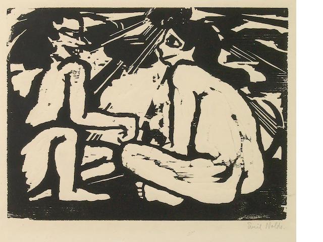 Emil Nolde (German, 1867-1956); Unterhaltung;