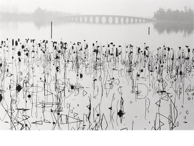 René Burri (Swiss, born 1933); Wilted Lotus Blossoms, Summer Palace, Kunming Lake, Beijing, China;