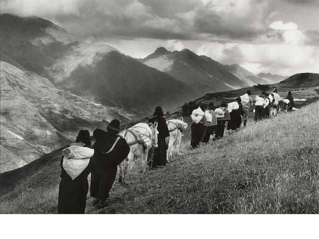 Sebastião Salgado (Brazilian, born 1944); Women Going to Market in Chimbote, Ecuador;