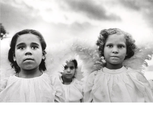 Sebastião Salgado (Brazilian, born 1944); Three Communion Girls, Brazil;