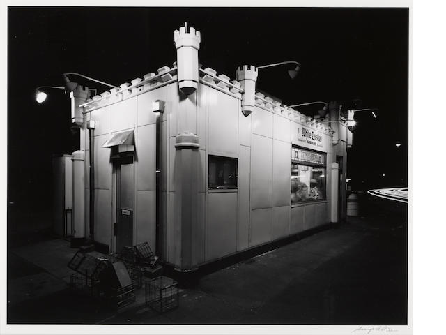 George Tice (American, born 1938); White Castle, Route no. 1, Rahway, New Jersey;