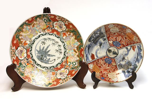 Two Imari serving pieces