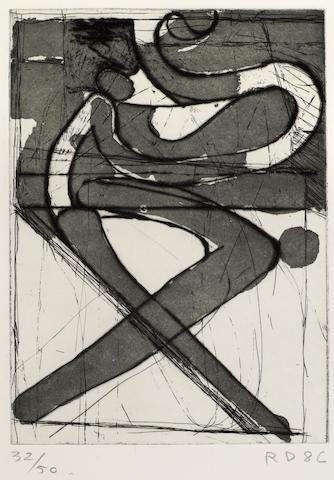 Richard Diebenkorn (American, 1922-1993); X;