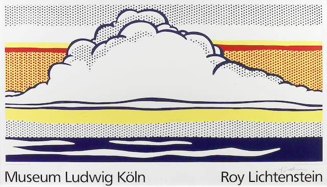 After Roy Lichtenstein (American, 1923-1997); Museum Ludwig Köln (Cloud and Sea);