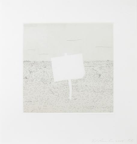 Edward Ruscha (American, born 1937); Blank Signs; (4)
