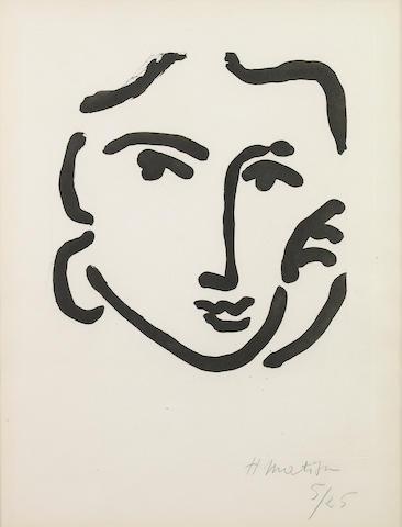 Henri Matisse (French, 1869-1954); Nadia au Regard sérieux;