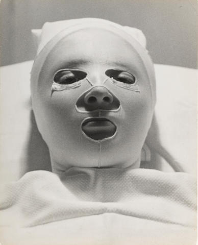 Alfred Eisenstaedt (American, 1898-1995); Helena Rubinstein's Beauty Mask;