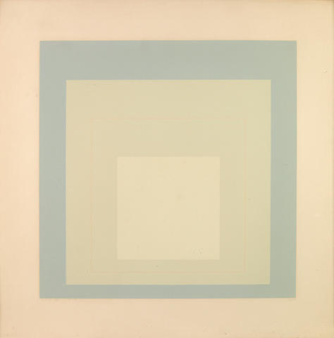 Josef Albers (American, 1888-1976); WLS VII, from White Line Square (Series I);