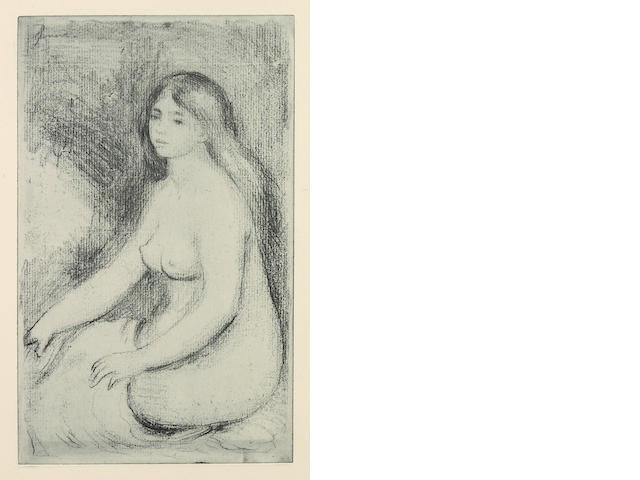 Pierre-Auguste Renoir (French, 1841-1919); Baigneuse assise;