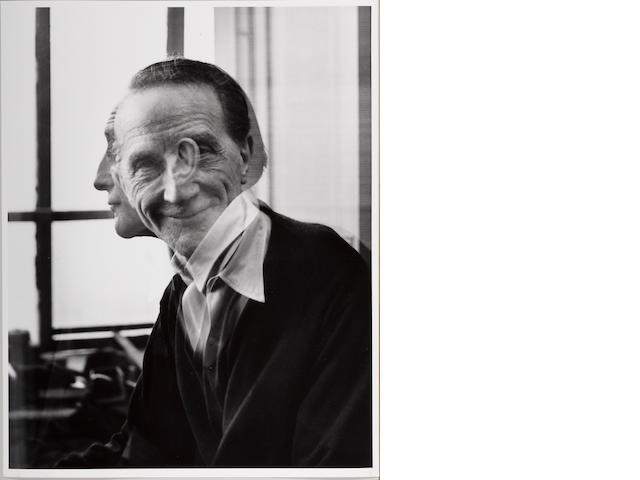 Victor Obsatz (American, born 1925); Portrait No. 29 (Double Exposure: Full Face and Profile) Portrait of Marcel Duchamp;