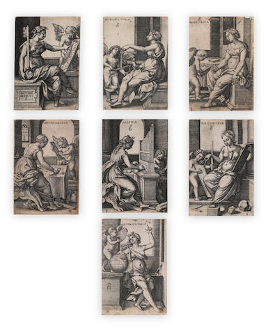 Georg Pencz (German, 1500-1550); The Liberal Arts; (7)