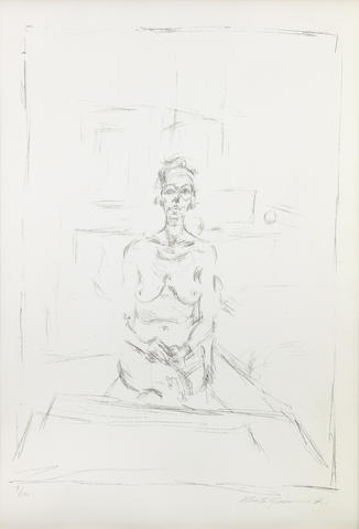 Alberto Giacometti (1901-1966); Seated Nude (Nu assis);