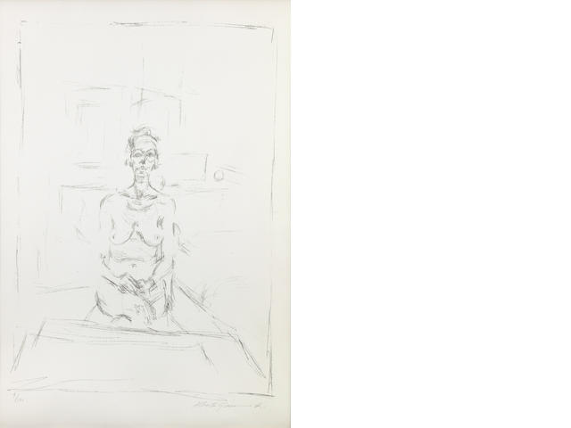 Alberto Giacometti (Swiss, 1901-1966); Seated Nude;