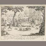 Jacques Callot Vie d'Enfant Prodigue 1635 L. 1404-14 Set of 11 engravings