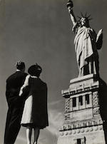 Lou Stoumen (American, 1917-1991); Statue of Liberty, New York (2); Sunrise, 43rd Street at Times Square; (3)