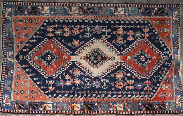 A Yalameh Rug size approximately 4ft. x 3ft. 6in.