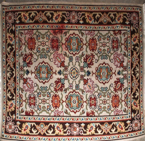 A Kilim size approzimately 7ft. 5in. x 5ft. 6in.