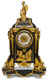 A Louis XV style gilt bronze mounted boulle marquetry bracket clock <br>second half 19th century