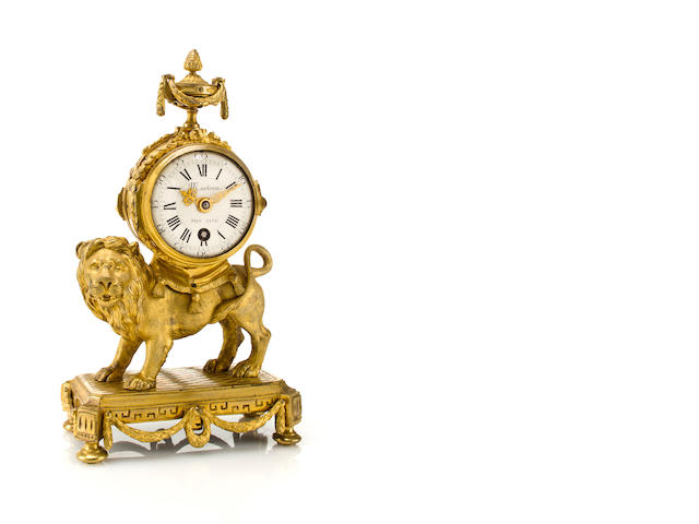 A fine Louis XV ormolu small mantel timepieceThe case attributed to François Vion, Paris, the dial signed Marteau fils ainé, circa 1770.