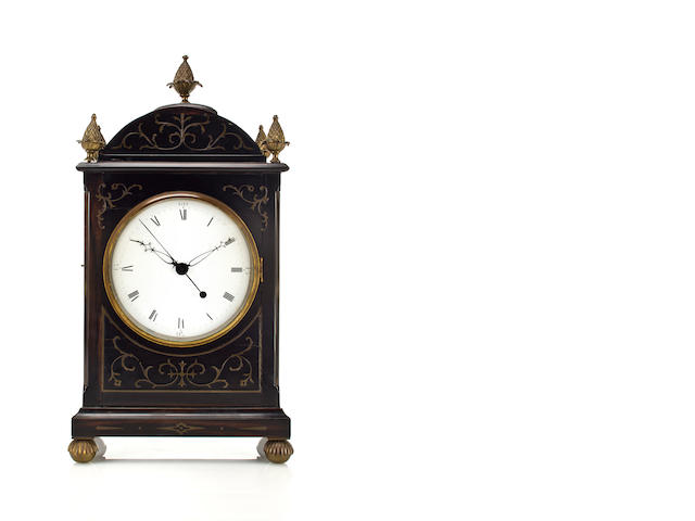 Chinese Rosewood Bracket Clock