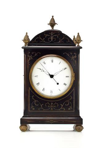 Chinese Rosewood Bracket Clock