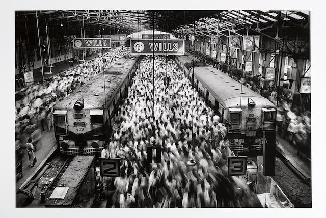 Sebastião Salgado (Brazilian, born 1944); Churchgate Station, Bombay, India;