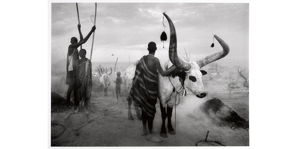 Sebastião Salgado (Brazilian, born 1944); Dinka Group at Pagarau Cattle Camp, Southern Sudan;