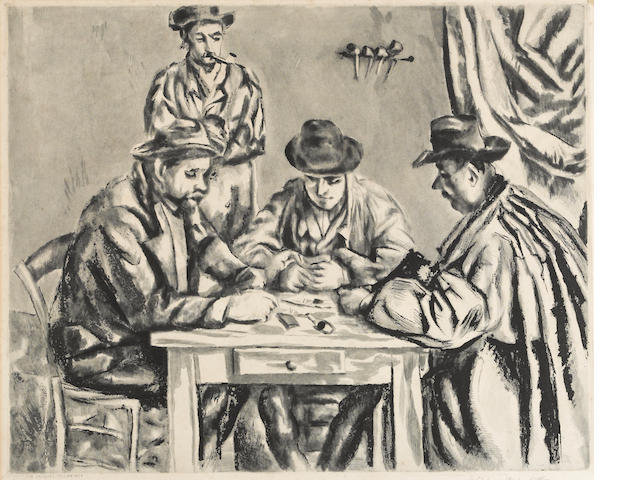 After Paul Cézanne (French, 1839-1906); by Jacques Villon Les Joueurs de cartes;