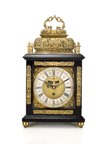 A rare Queen Anne basket top quarter repeating bracket timepiece.Signed Thomas Gorsuch in Salop Fecit, circa 1710