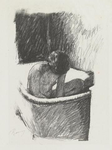 Pierre Bonnard (French, 1867-1947); Le Bain (deuxième planche), from Album des peintres-lithographies de Manet à Matisse; Femme debout dans sa baignoire, from Maîtres et petits maîtres d'aujourd'hui; (2)