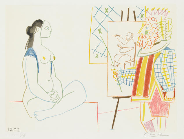 After Pablo Picasso (Spanish, 1881-1973); Plates I-III and XIV, from Verve Nos. 29-30 ; (4)