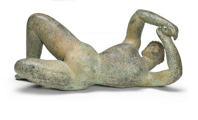 Dora Gordine (British, 1906-1991) The Awakening, 1949 6 1/2 x 15 x 6in