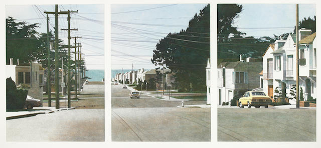 Robert Bechtle, Sunset Intersection, 1983, Color etching