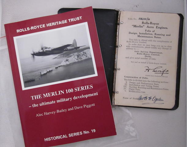An original Rolls-Royce Merlin engine handbook.